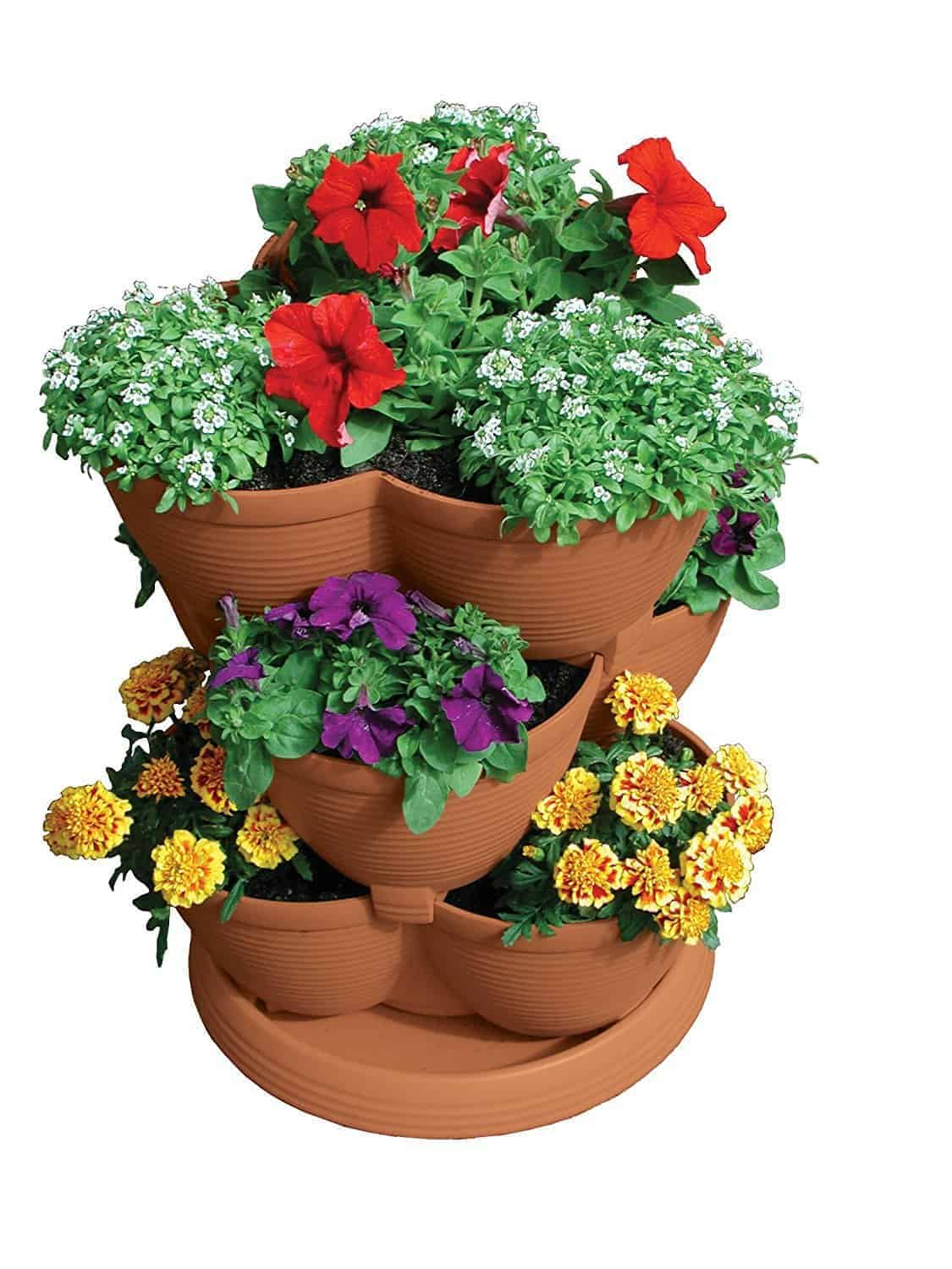 medium vertical strawberry planter from akromils