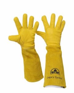 Legacy Gardens Leather Gardening Gloves for Women and Men