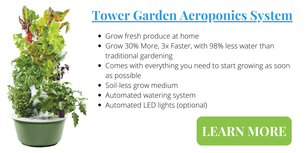 Grow fresh produce at home with Tower Garden Aeroponics System