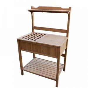 Hydroponicsbase - Merry Garden Potting Bench with Recessed Storage